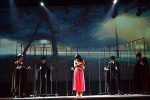 我院流行演唱學院音樂劇系第二部原創音樂劇《囚,你愛我》首演火爆